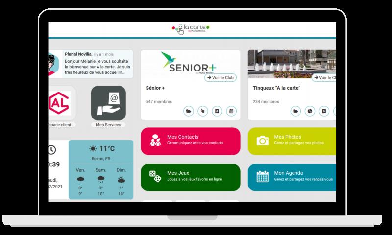 Plurial Novilia - Plurial Novilia expérimente sur deux sites une plateforme de services « A la Carte » pour ses locataires séniors